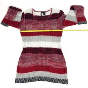 Ultra Flirt Sweaters - Ultra Flirt Women's Red, Black & White Sweater